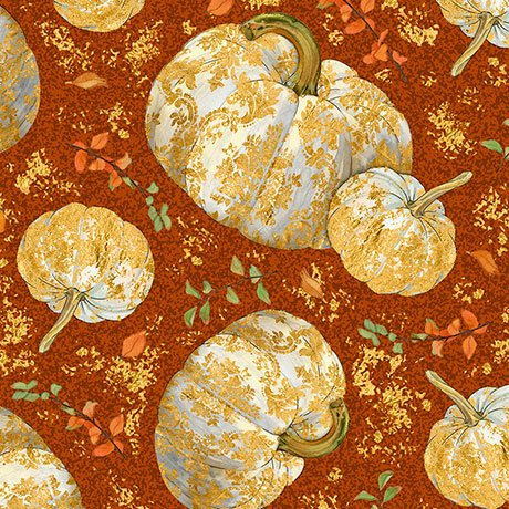 Autumn Shimmer Tossed Pumpkins