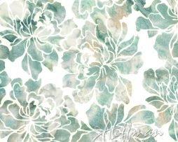 Bali Batik Floral Bluegrass