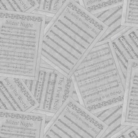 SILENT NIGHT Sheet Music Gray