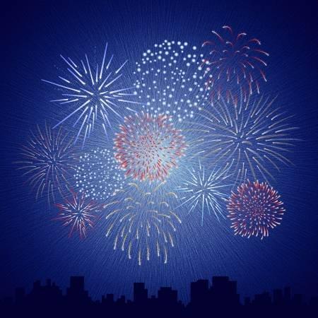 Americana Fireworks Digitally Printed Panel