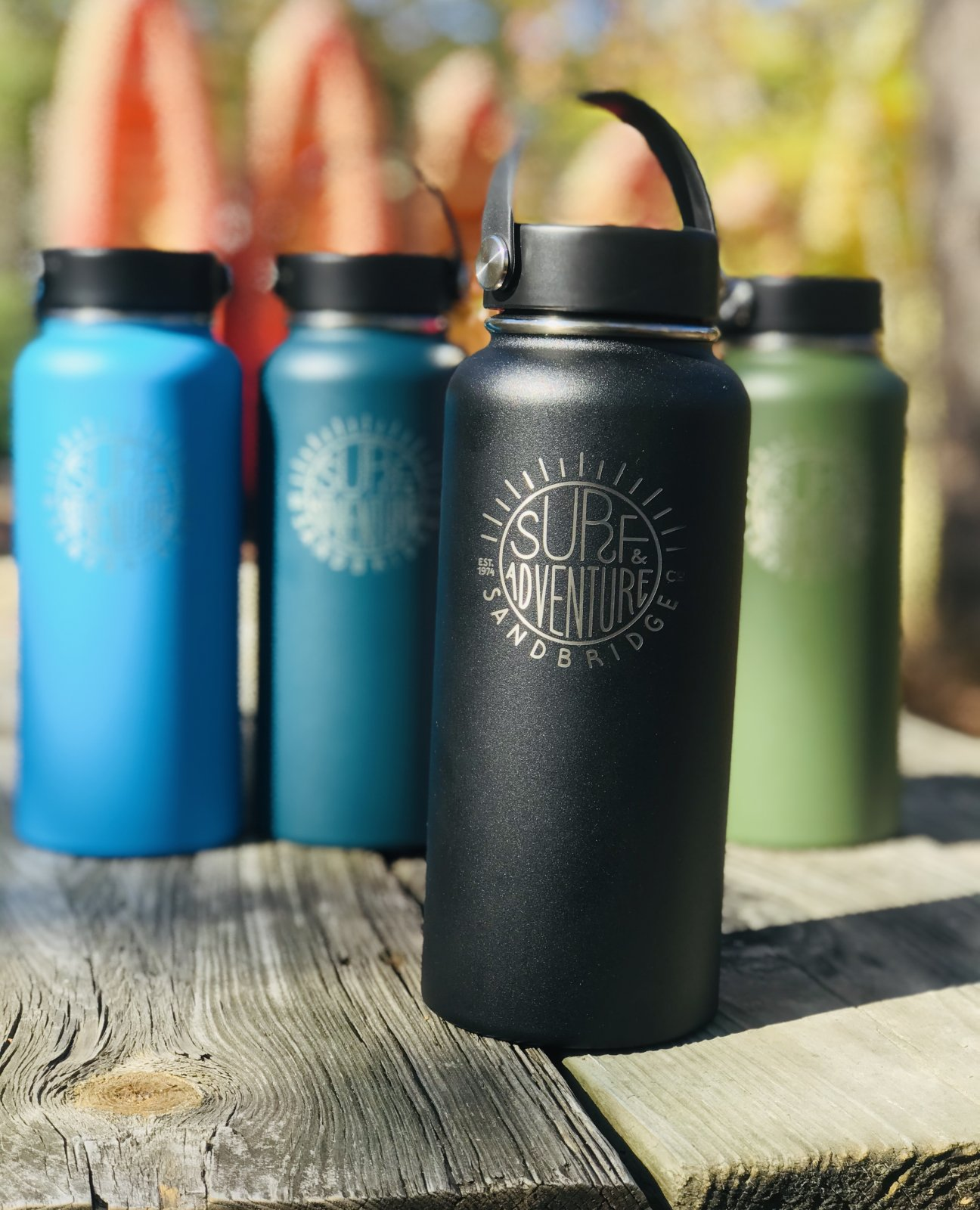 S&A Hydro Flask 32oz  Wide Mouth  Sun Logo