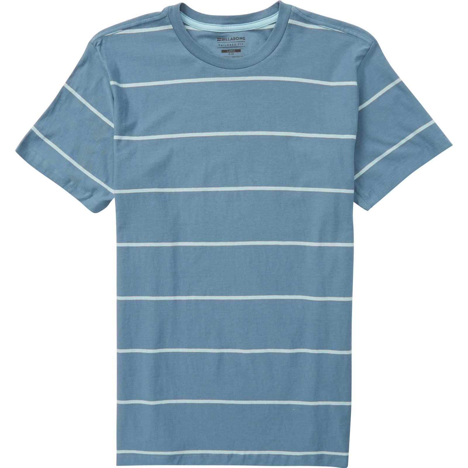 Die Cut Stripe Short Sleeve Crew Tee