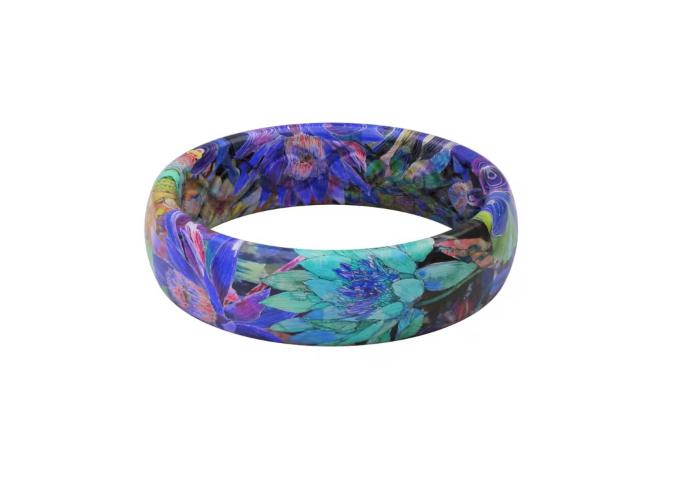 Thin Twilight Blossom Groove Ring