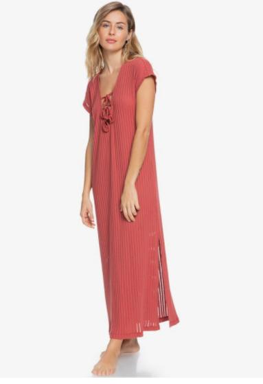 Summer Pink Wave Beach Dress