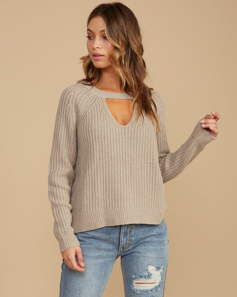 Case Knit Keyhole Sweater