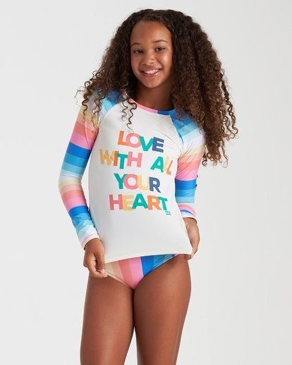 Girls' Me N You Long Sleeve Rashguard Set