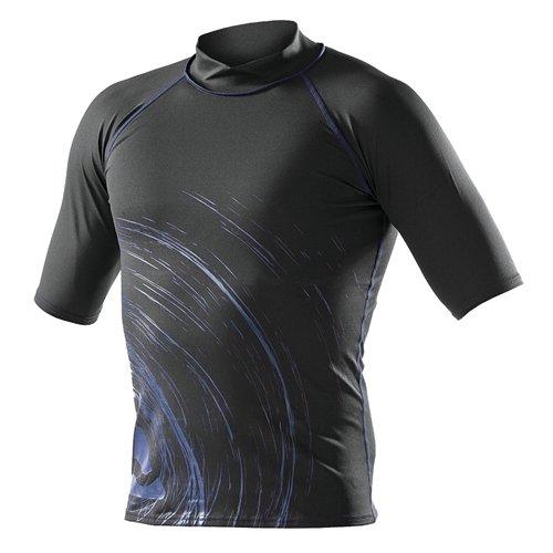 SubGear Rash Guard Men's Short Sleeve M Black/Blue