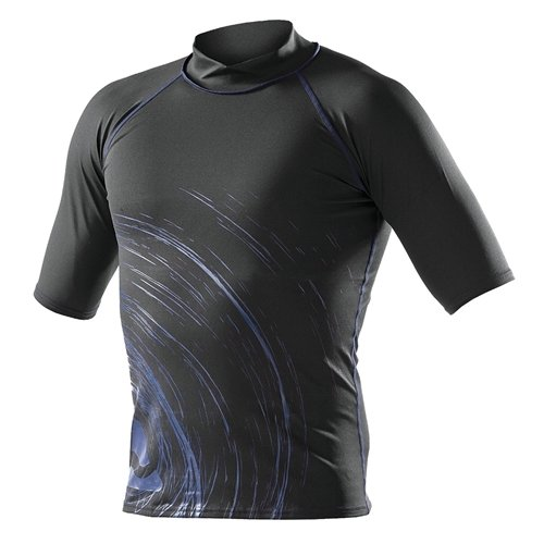 SubGear Rash Guard Men's Short Sleeve S Black/Blue