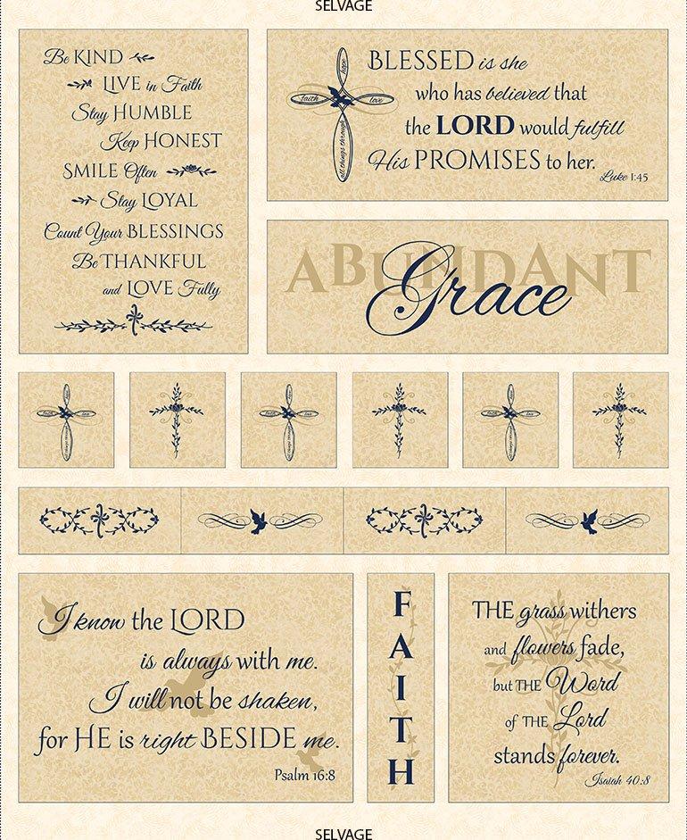 Abundant Grace Panel Latte