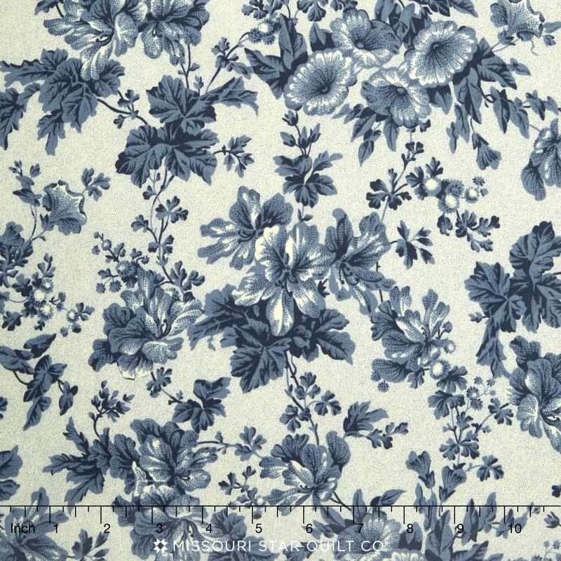 Belcourt Dusty Blue Floral