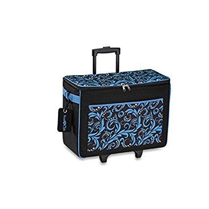 Blue Damask ScanNCut Rolling Bag