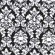 Dandy Damask Black/White