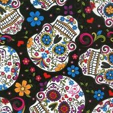Folkloric Skulls Black
