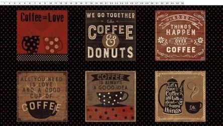 Espresso Yourself Panel by Clothworks