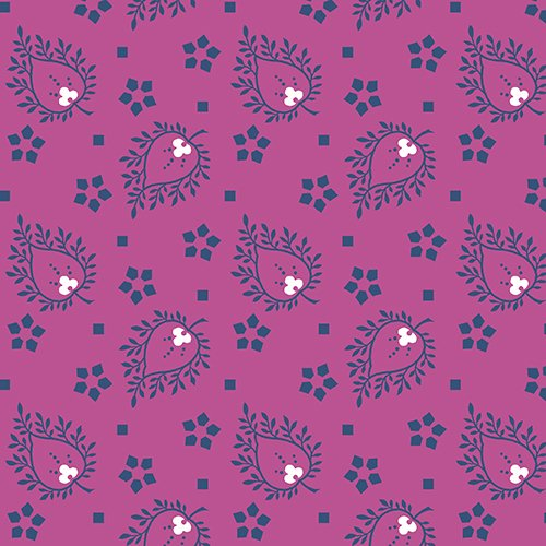 Joyful by Quilted Koala Vibrant Purple and Navy