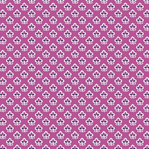 Joyful by Quilted Koala Vibrant Purple and White