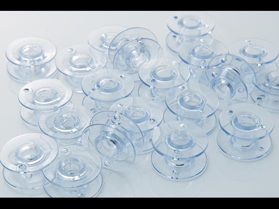 Bobbins, Clear Plastic, 10 pk, 9.4 size
