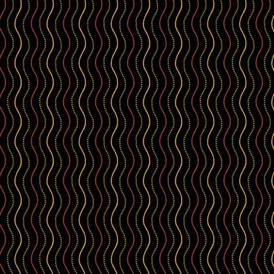 Haunting Scratch Stripe Black