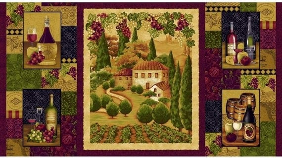 Tuscany Panel by Henry Glass