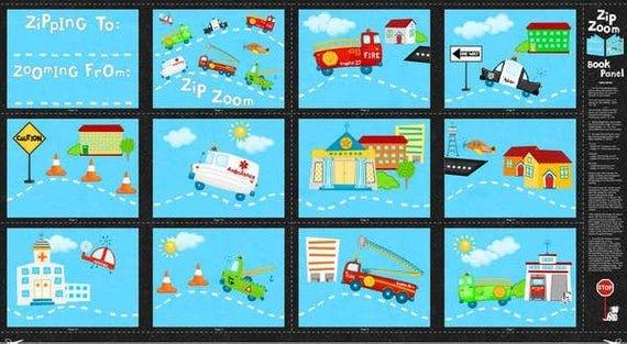 Zip Zoom Book Panel by Wilmington Prints