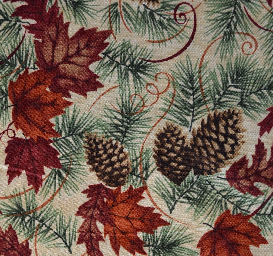 Maple, Oak and Pine on Tan Background
