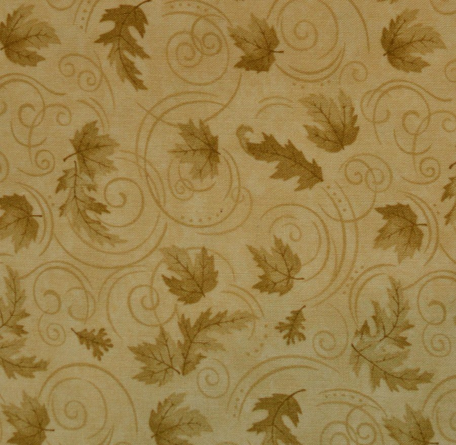 Maple, Oak and Swirls Tan Tonal Background