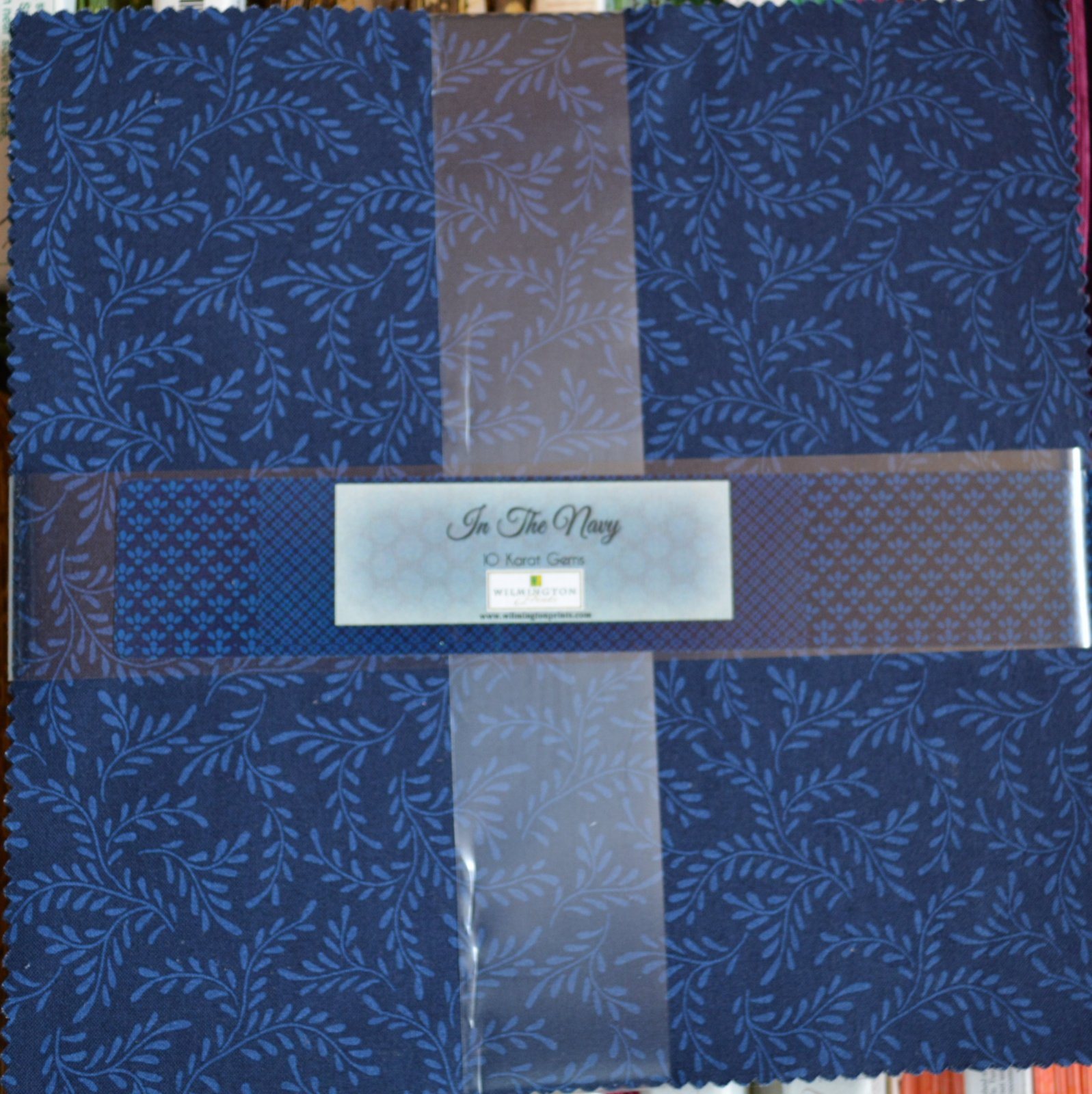In The Navy 10 Squares, Navy Blue Tonal