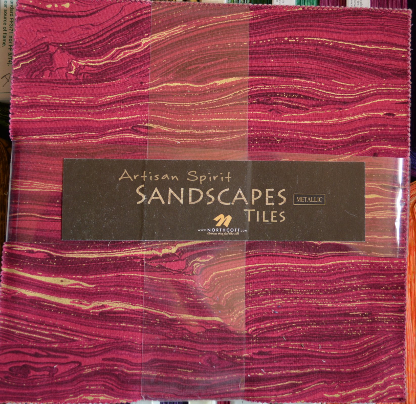 Northcott Sandscape 10 Squares, Shades of Pinks and Purples