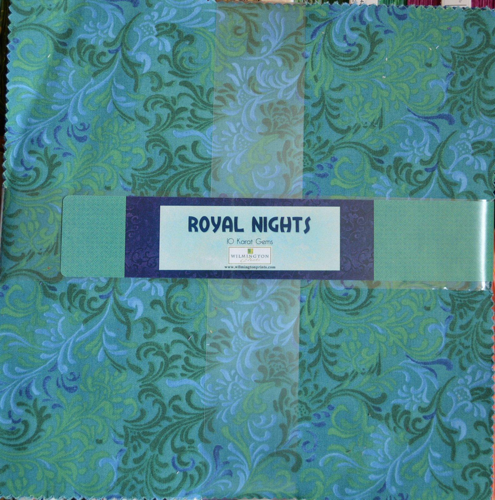 Royal Nights 10 Squares, Blues and Greens
