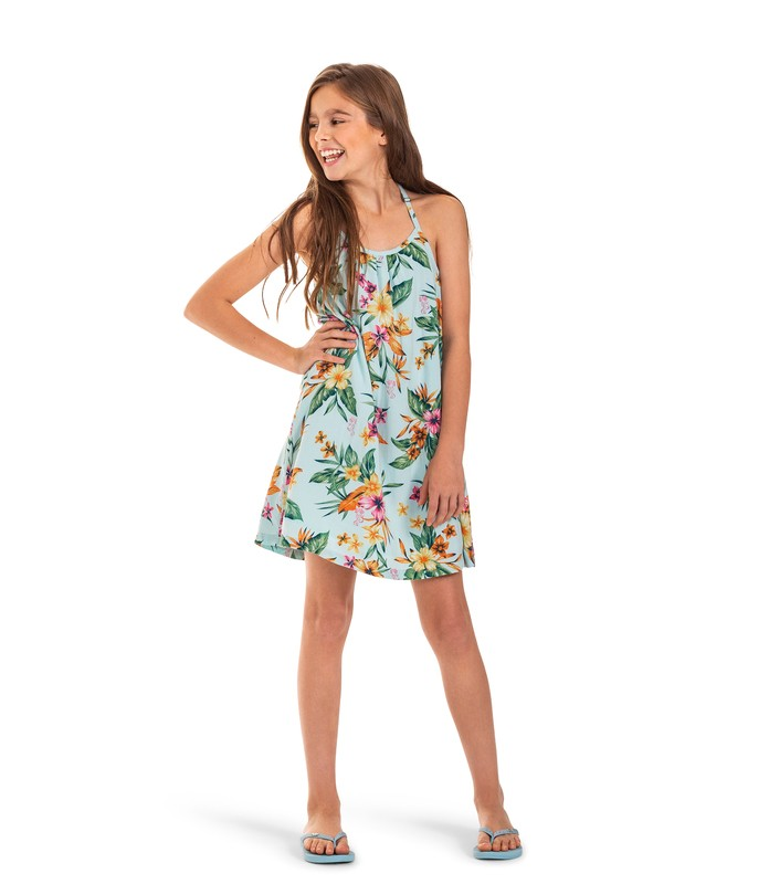 ROXY GIRLS ARIEL EXOTIC NATURE STRAPPY DRESS