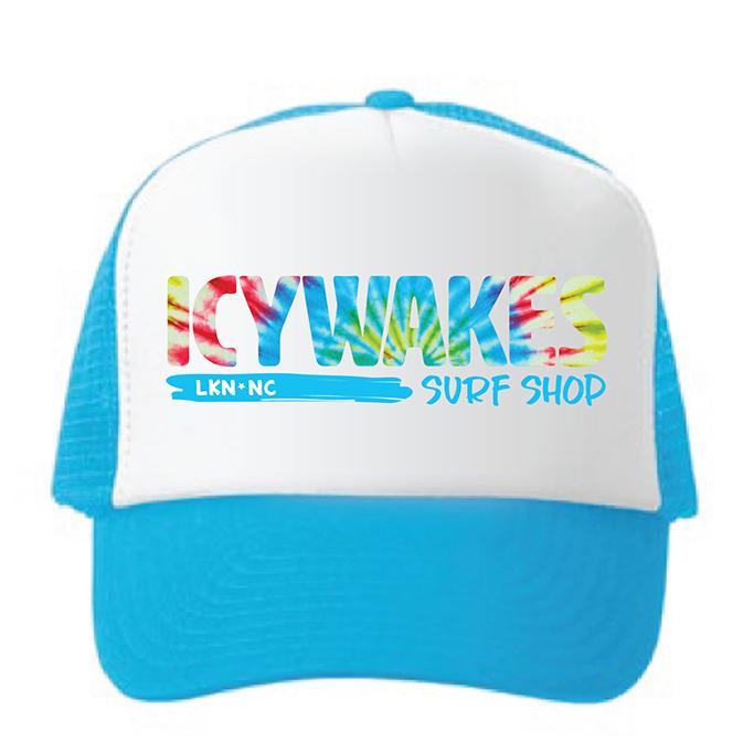 ICYWAKES YOUTH HAT AQUA TIE DYE