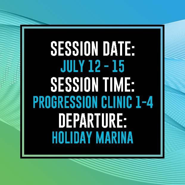 2021 2ND LEVEL PROGRESSION WAKEBOARD CLINIC MONDAY, JULY 12 - THURSDAY, JULY 15