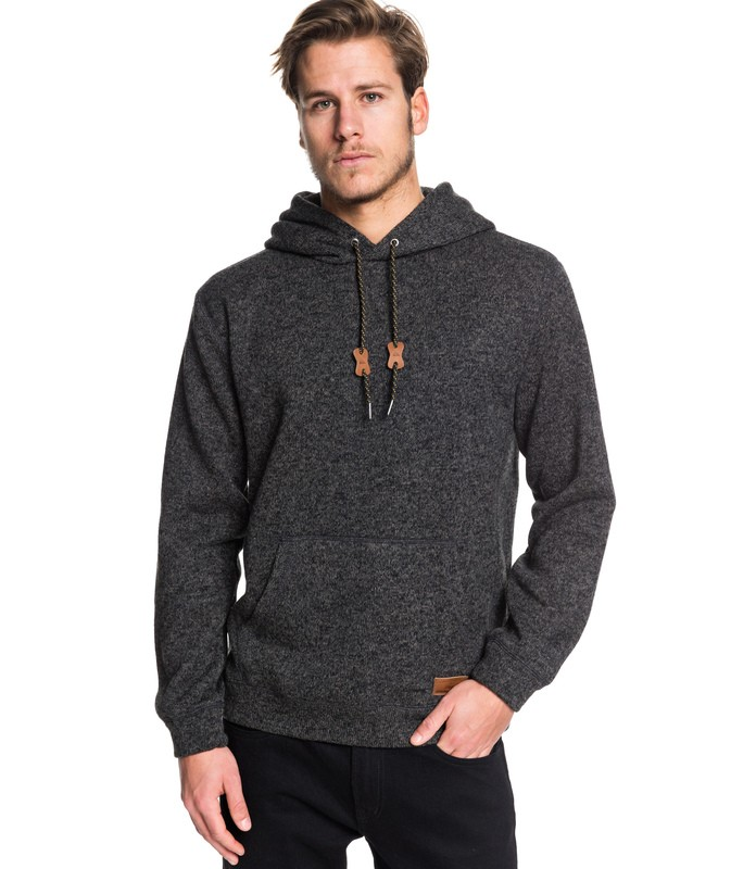 QUIKSILVER KELLER HOODED SWEATER BLK