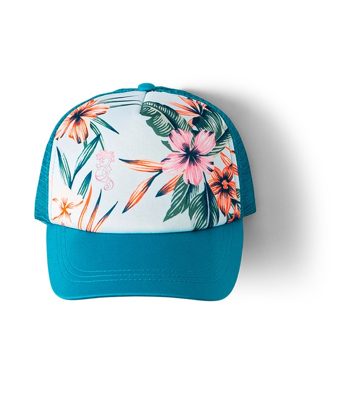 ROXY GIRLS ARIEL OCEAN TOWN TRUCKER HAT