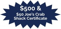Joe' Crab Shack Certificate