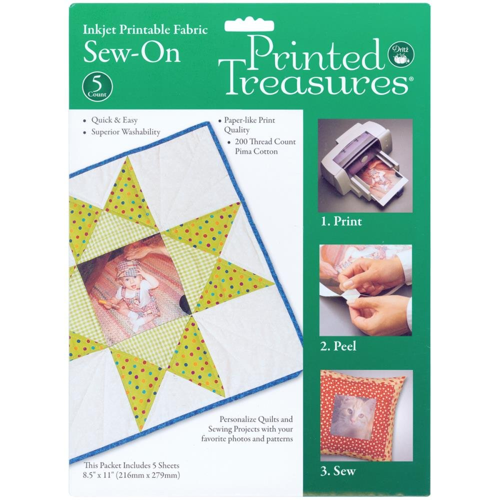 Printed Treasures Sew-In Inkjet Printable Fabric Sheets