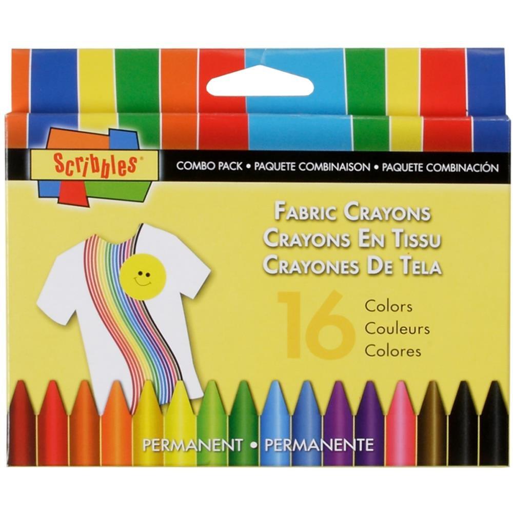 Fabric Crayons 16Pk