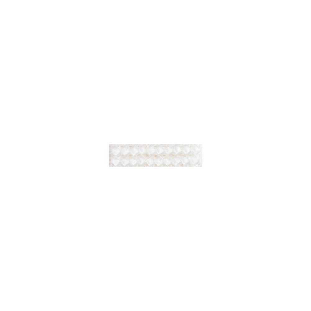 Frosted Glass Beads - White