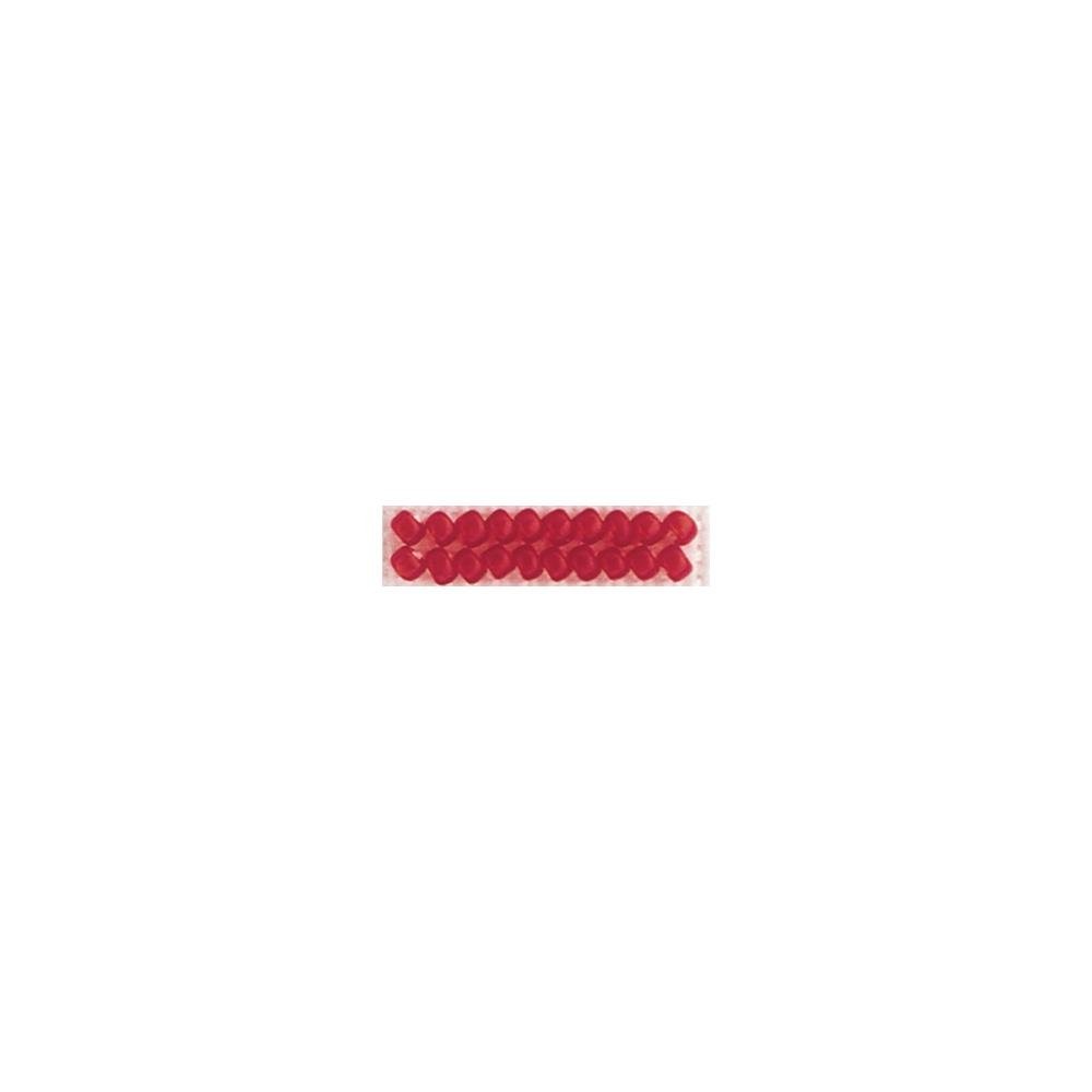 Frosted Glass Beads - Red