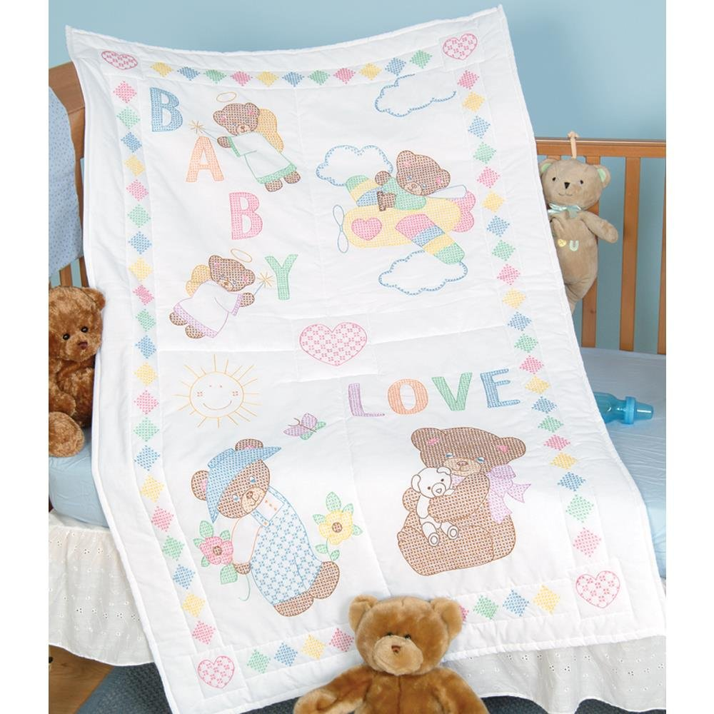 Stamped Embroidery Crib Top - Baby Love