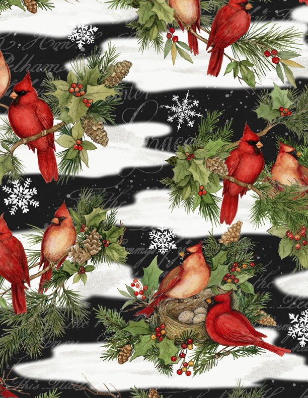 Cardinal Noel - Allover Cardinals - Black