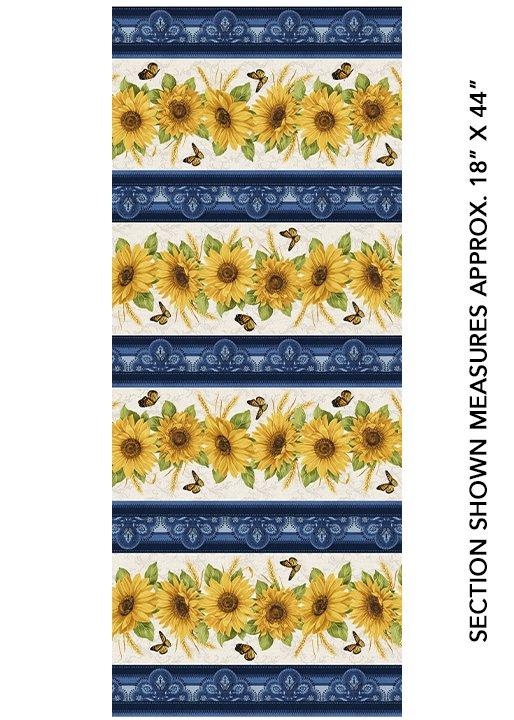 Accent on Sunflowers - Sunflower Stripe