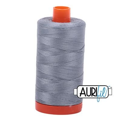 Aurifil Mako 50wt Thread 1422 yd - Light Blue Grey