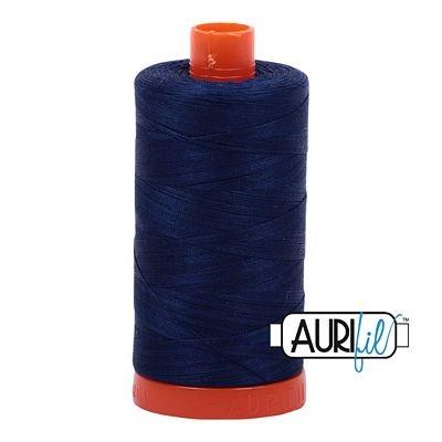 Aurifil Mako 50wt Thread 1422 yd  -  Dark Navy