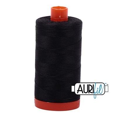 Aurifil Mako 50wt Thread 1422 yd -  Very Dark Grey