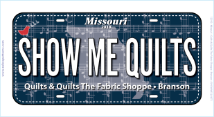 Show Me Quilts License Plate