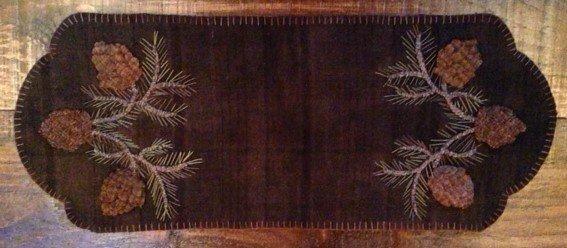 Pinecones Table Mat Kit with Pattern & Valdani