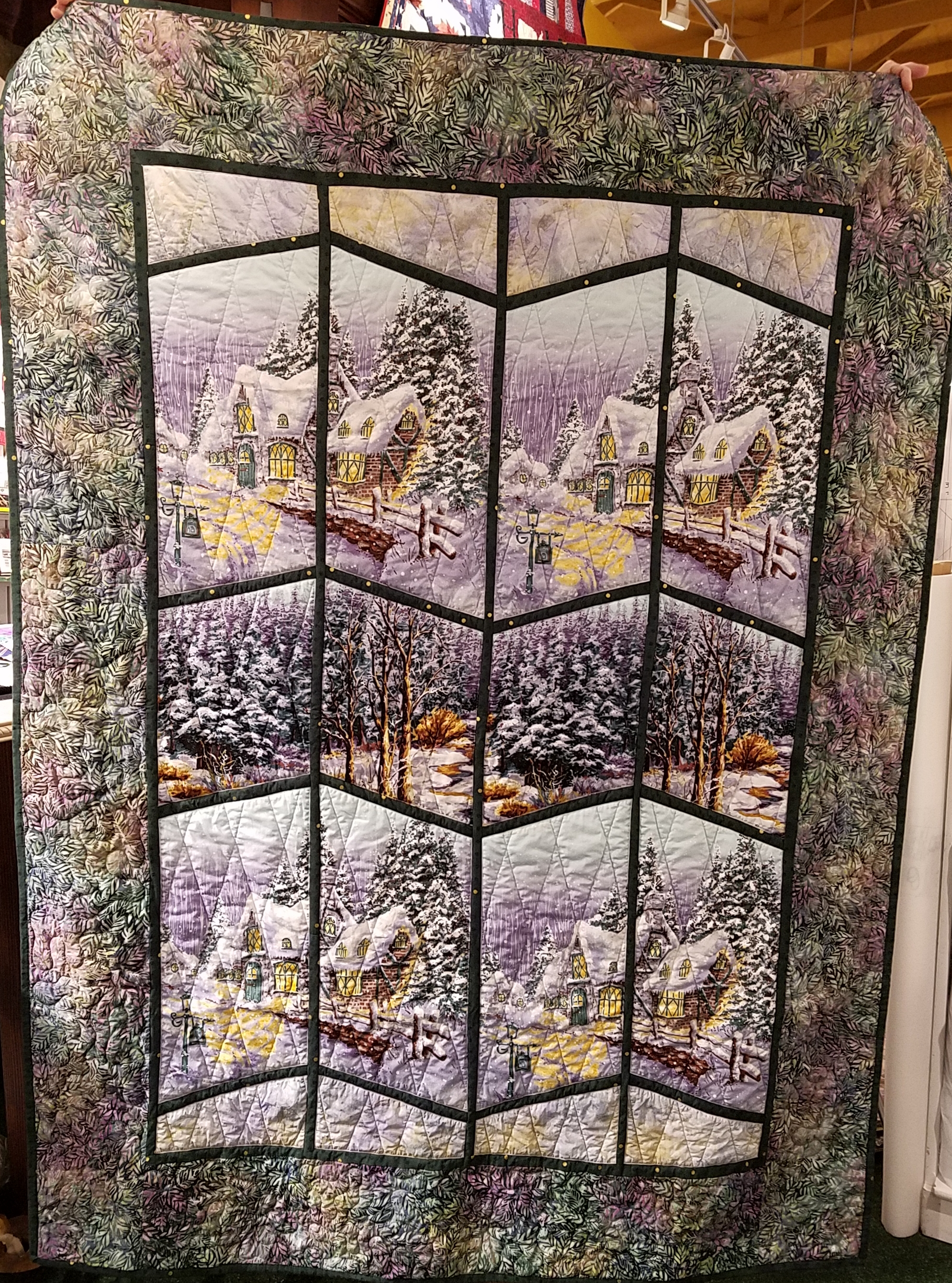 Scenic View Quilt Kit with Pattern in Green