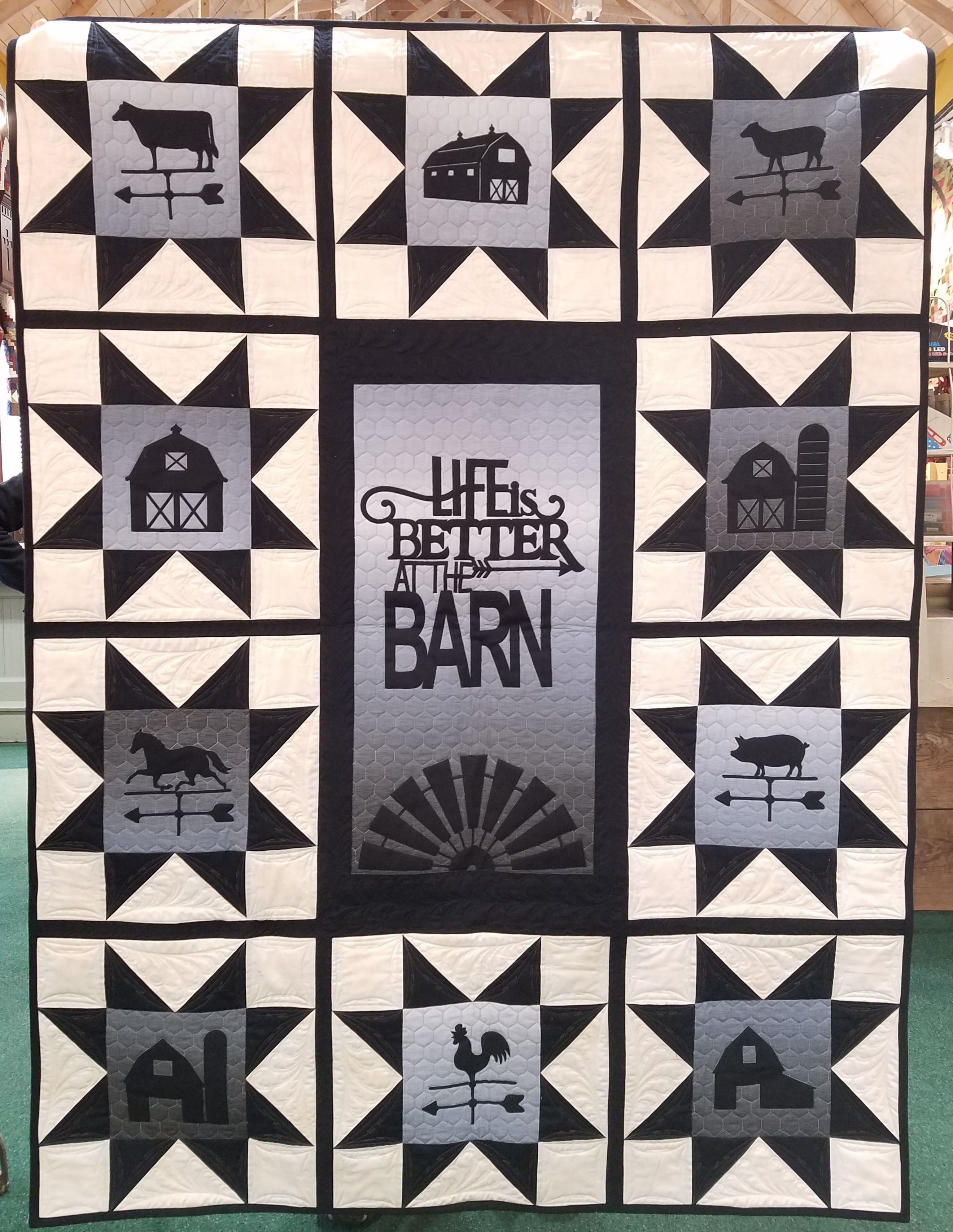 Life is Better at the Barn Fabric Kit with Pre-Cut & Pre-Fused Appliques