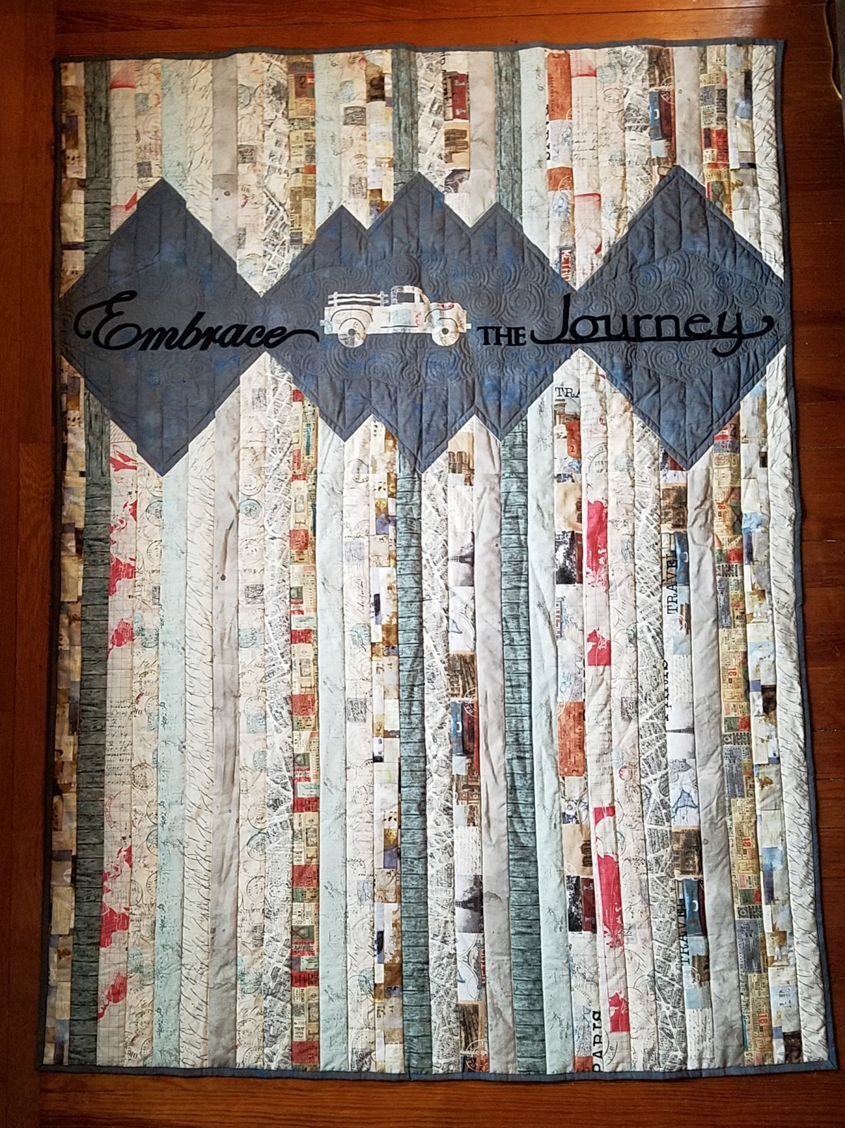 Embrace The Journey Throw Kit with Pattern